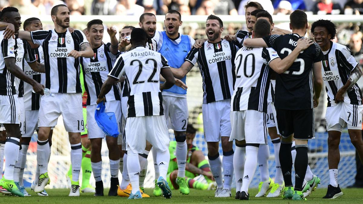 La Juventus celebra su Scudetto número 33. (AFP)