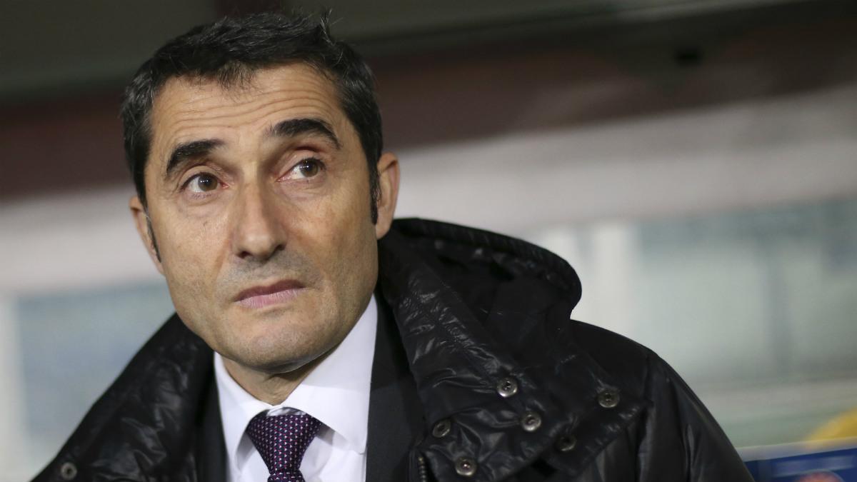 Valverde, en un partido con el Athletic. (AFP)
