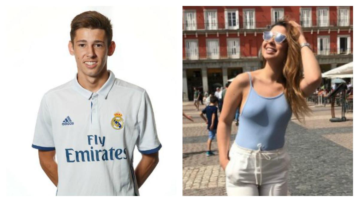 El jugador del juvenil A del Real Madrid, Tati, y la modelo Pietra Coimbra, de MHYV.