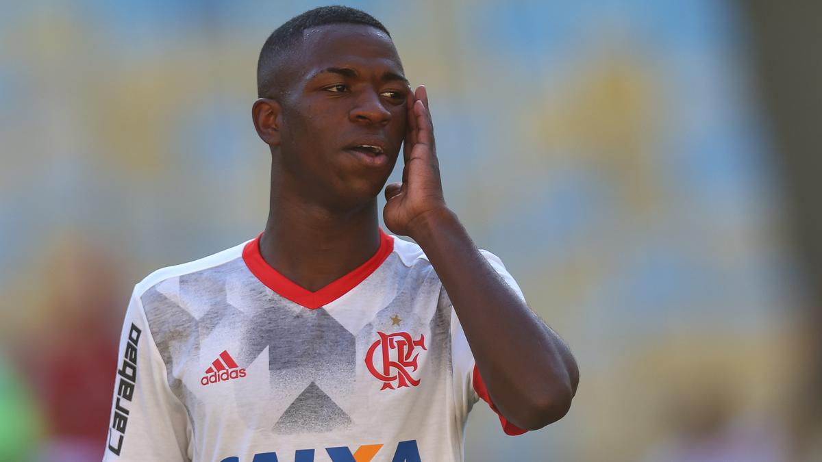 Vinicius, durante un partido reciente del Flamengo (Getty Images).