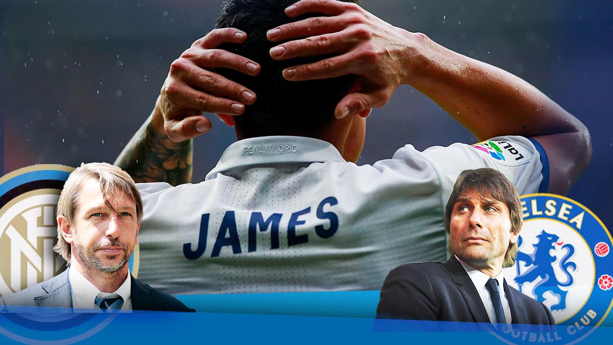 El Chelsea no se rinde con James Rodríguez… ni el Inter tampoco