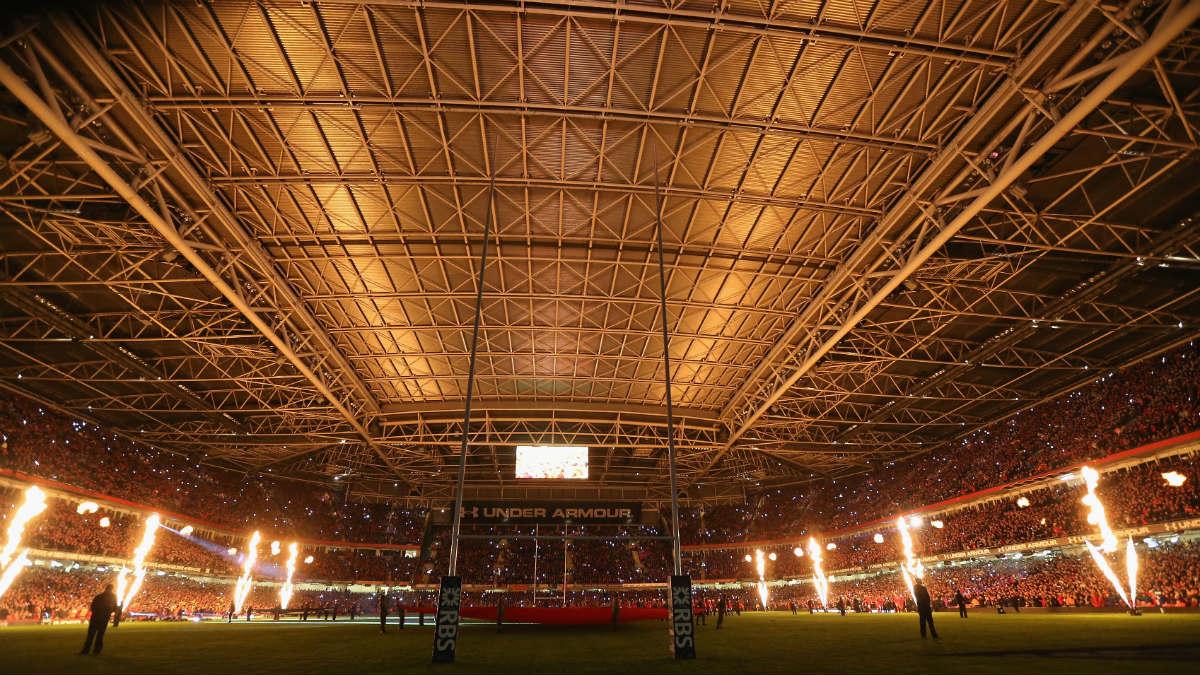 Una imagen del estadio de Cardiff techado. (Getty)