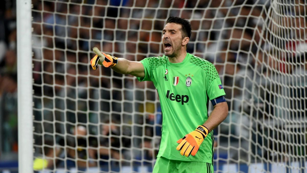 Buffon, en un partido de la Juventus. (Getty)