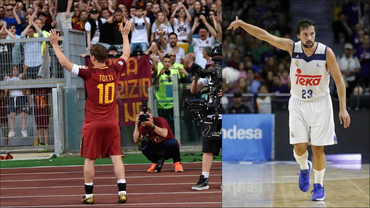 Francesco Totti y Sergio Llull.