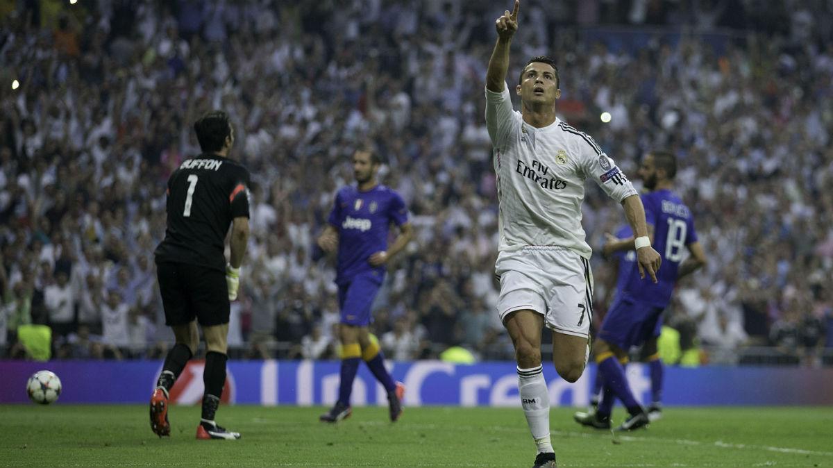 Cristiano Ronaldo celebra un gol contra la Juventus. (Getty)