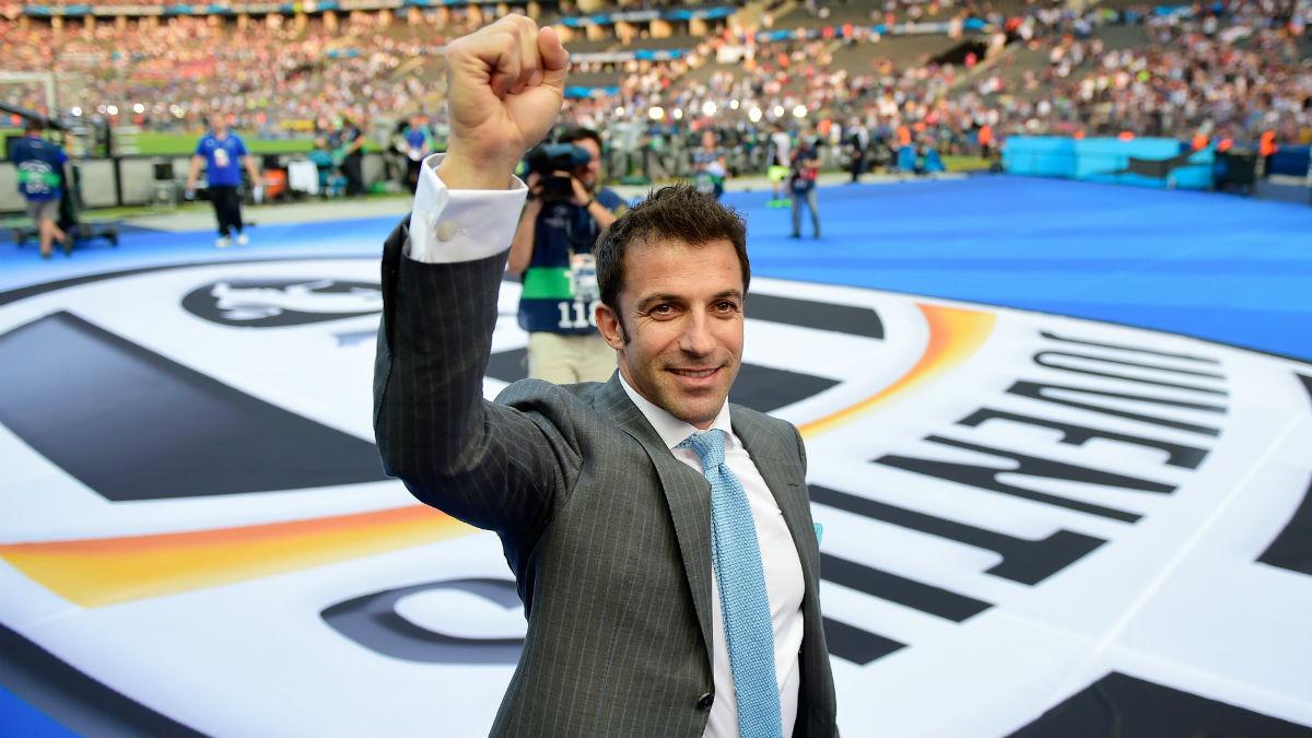 Alessandro Del Piero se rinde al Madrid. (AFP)