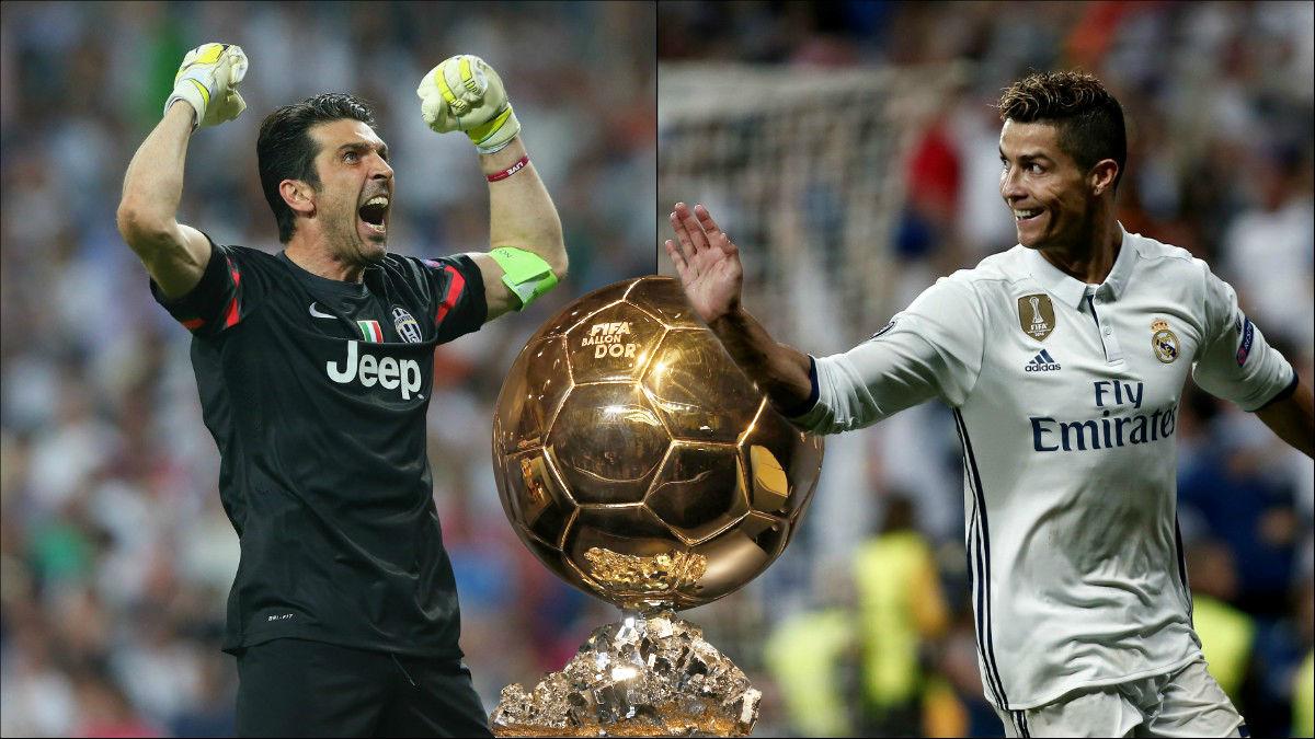 Buffon y Cristiano Ronaldo son los favoritos al Balón de Oro.