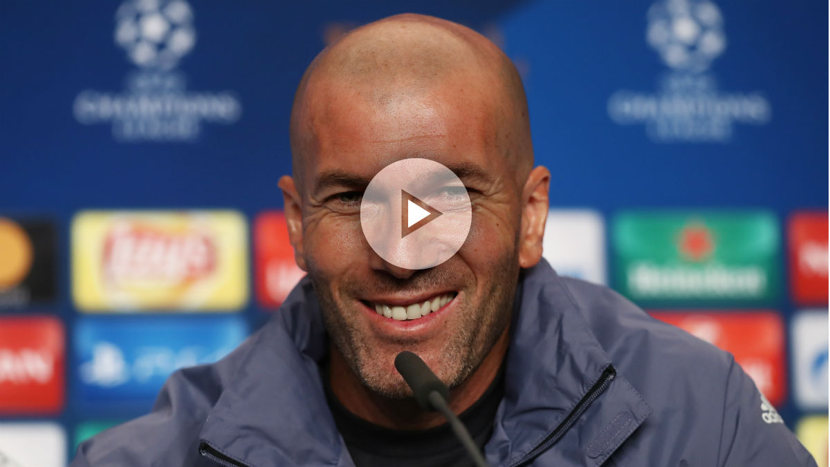 Zidane durante la rueda de prensa previa a la final de Champions. (Getty)