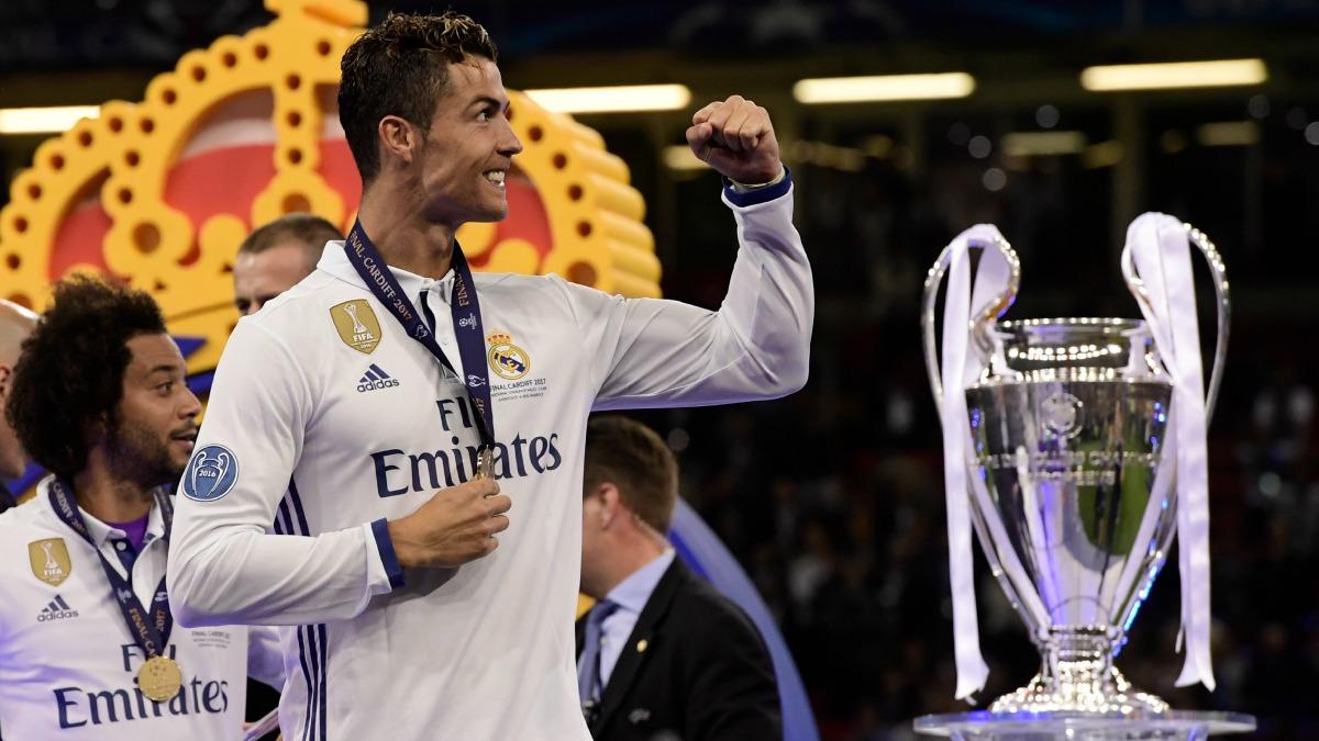 Cristiano Ronaldo celebra la Champions League. (AFP)