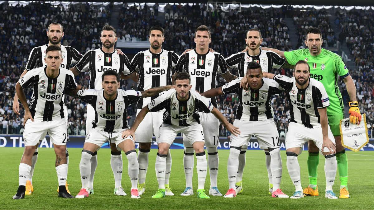 La alineación de la Juventus. (AFP)