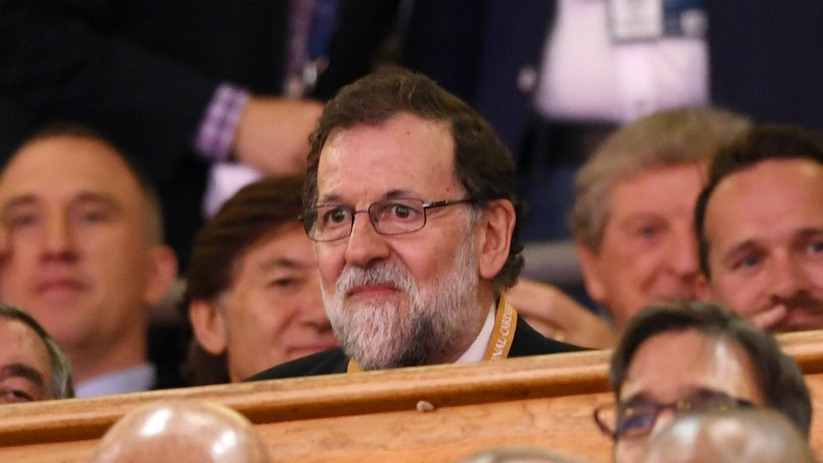Mariano Rajoy, en la final de la Champions. (Getty)