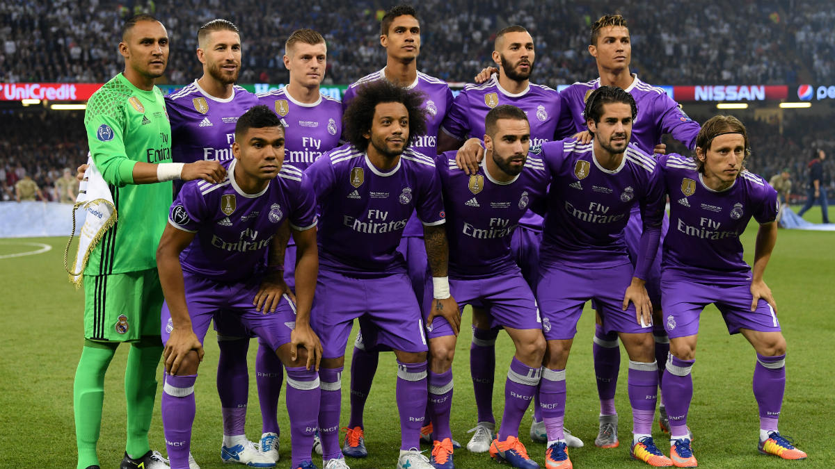 El once titular del Real Madrid en la final de Cardiff. (Getty)