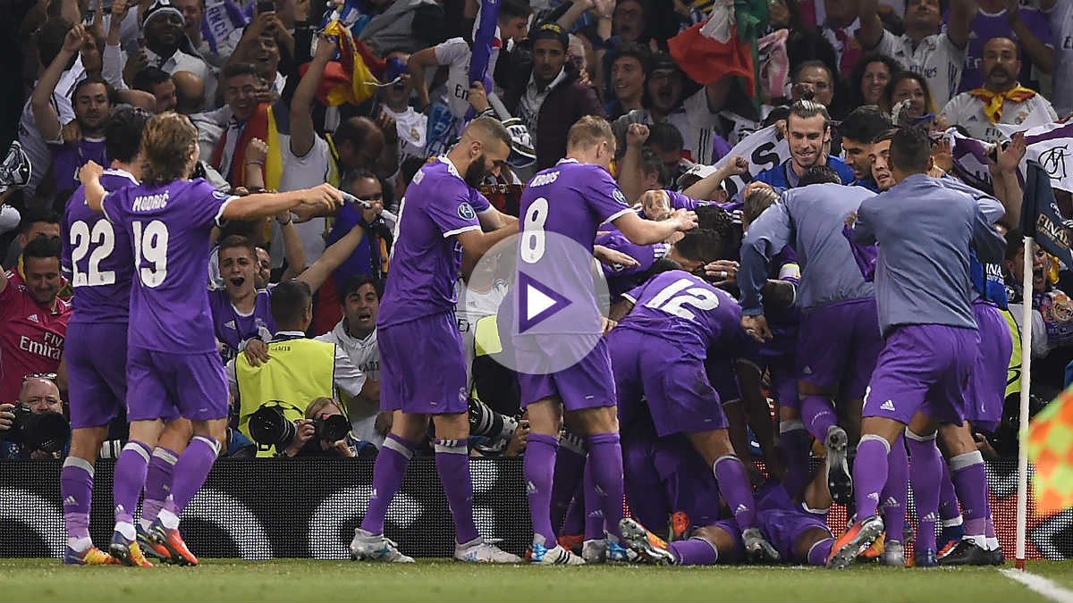 Así celebró la grada el segundo tanto de Cristiano Ronaldo.