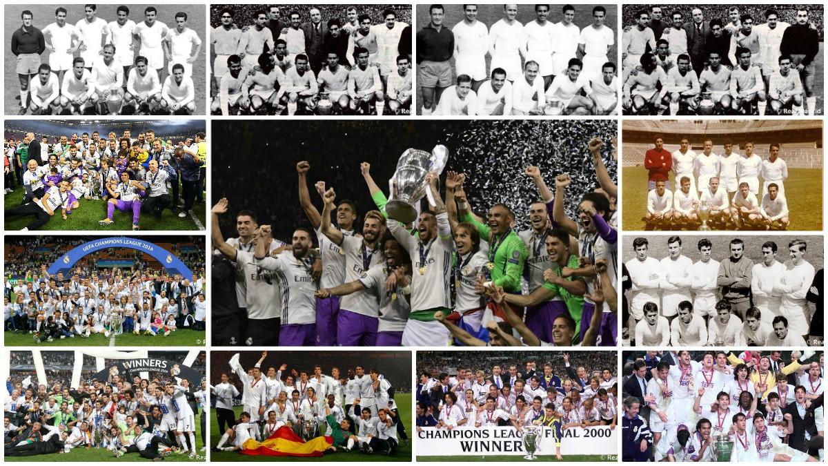 El Real Madrid tiene Copas de Europa de todos los colores.