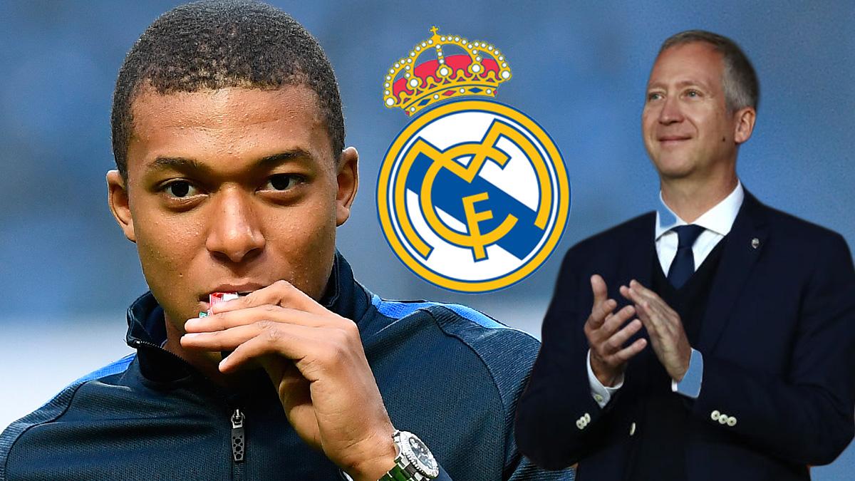 El director general del Mónaco negocia en Madrid la venta de Mbappé