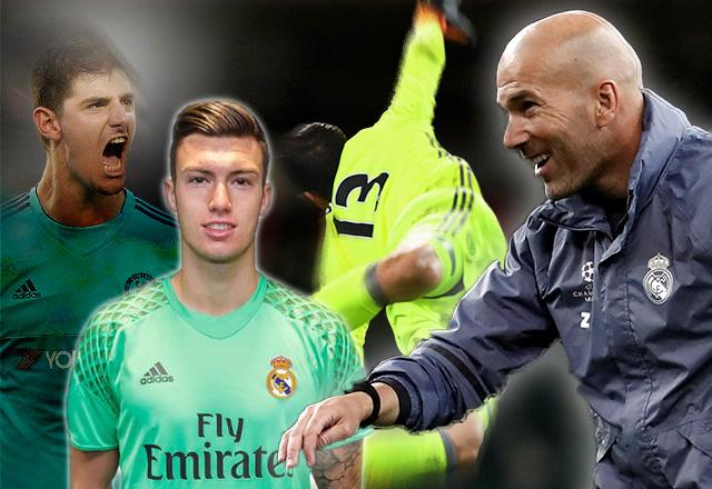 Zidane puede tener a su Courtois