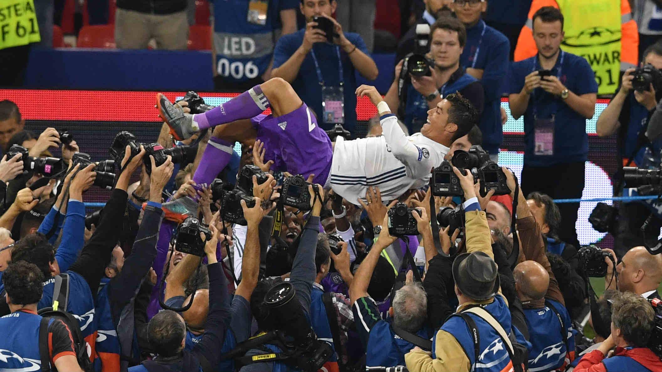 Cristiano fue el héroe del Real Madrid en Cardiff. (AFP)