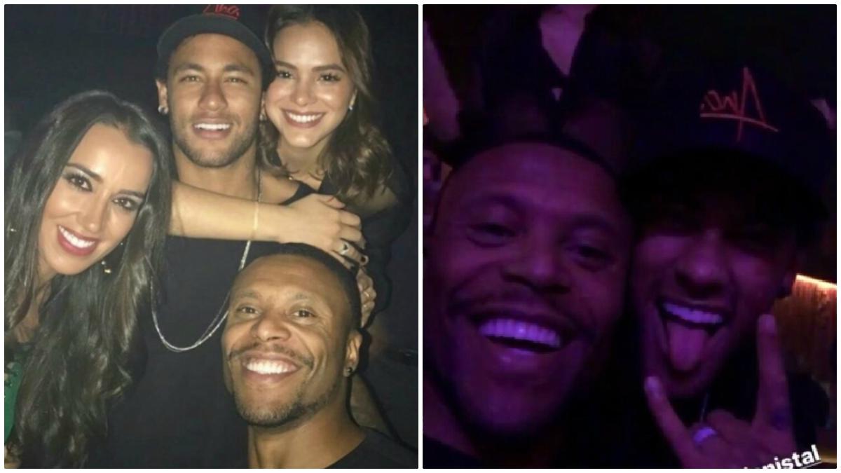 Neymar y Baptista se lo pasaron bomba en Las Vegas.
