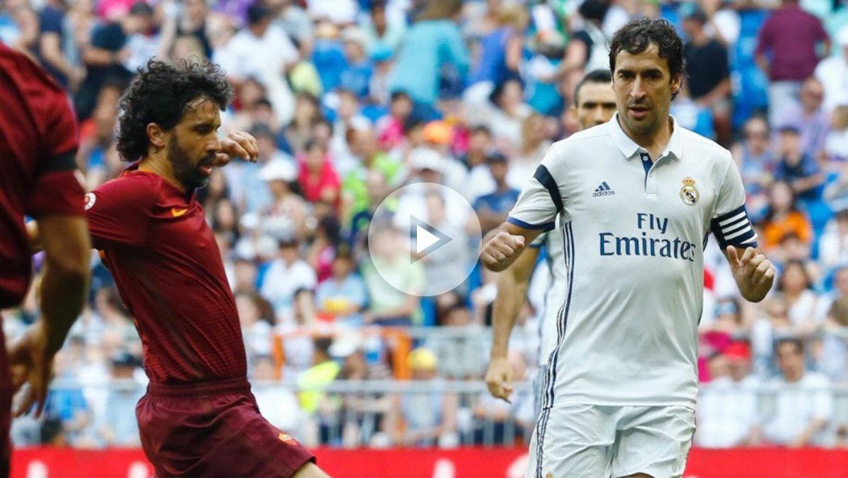 Atronadora ovación para Raúl en el Corazón Classic Match