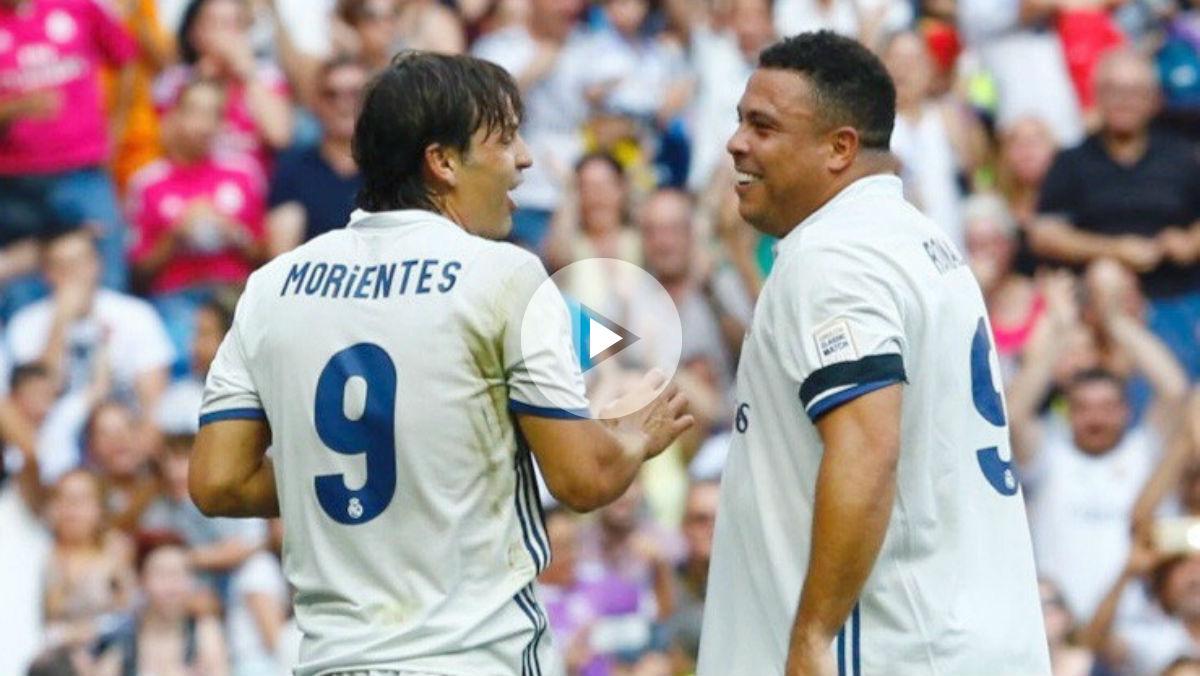 El Bernabéu se puso en pie para aplaudir a Ronaldo Nazario