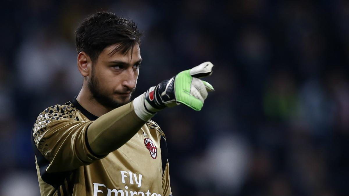 Donnarumma, en un partido del Milan (AFP).