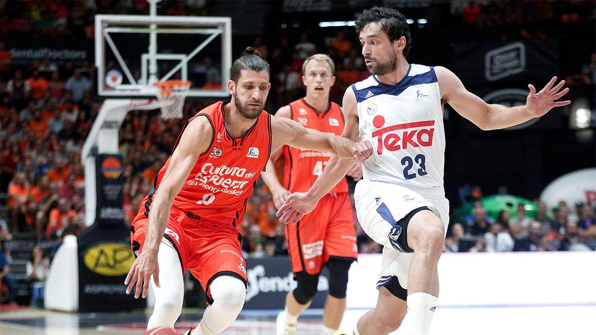 El Real Madrid no pudo neutralizar la inspiración de un Valencia Basket de gran nivel. (EFE)
