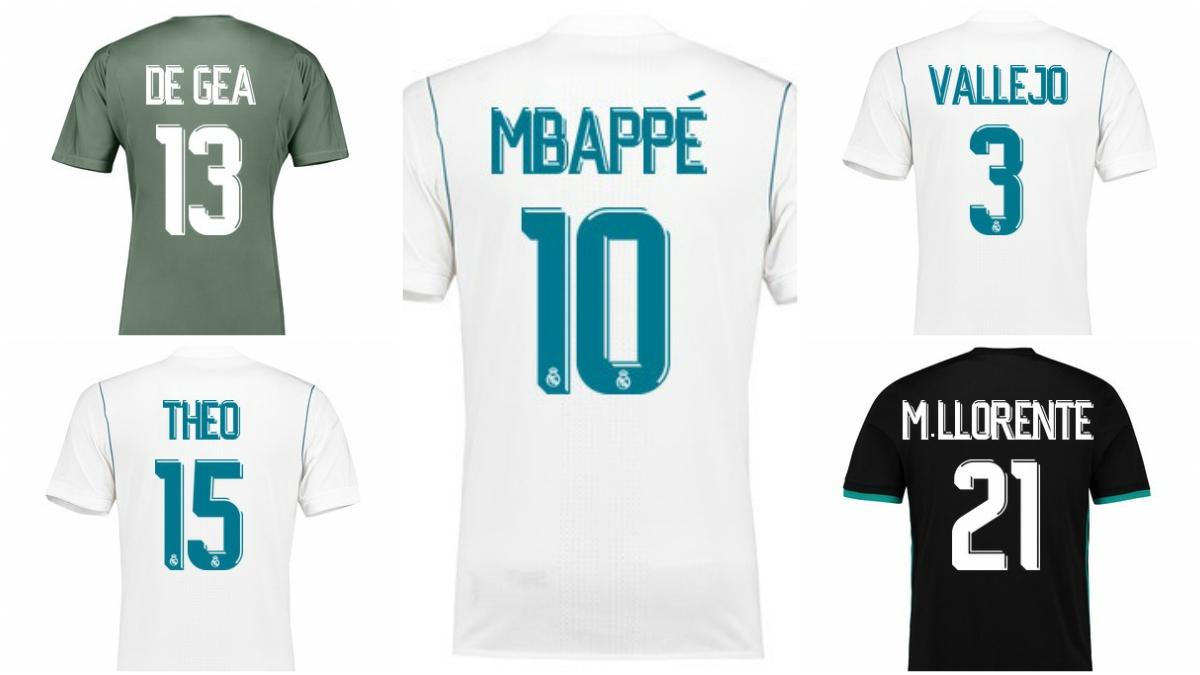 Así serían las camisetas de los refuerzos del Real Madrid.