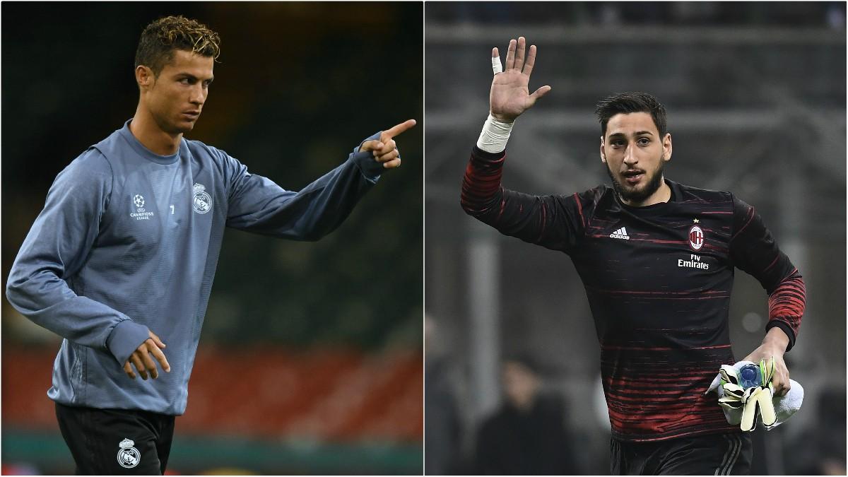 Cristiano Ronaldo y Donnarumma.