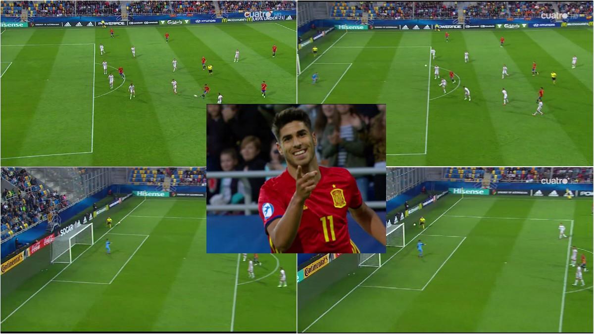 El primer gol de Marco Asenisio. Obús desde más de 25 metros.