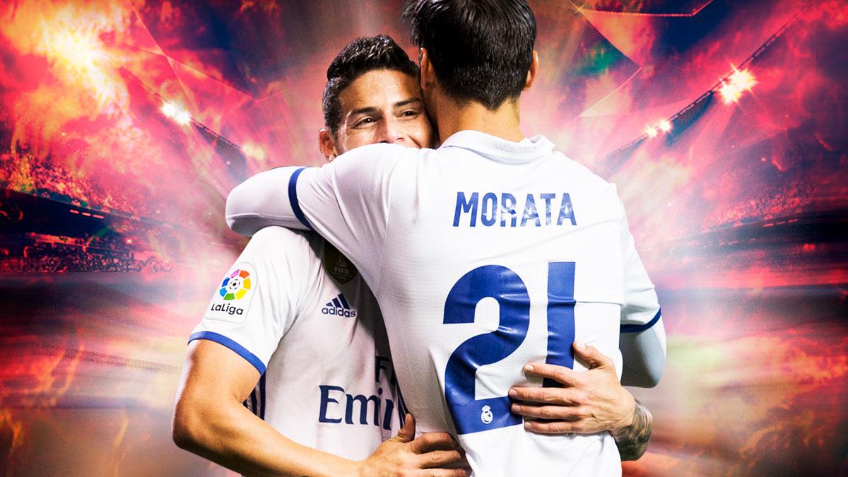 El Real Madrid no quiere vender a James y Morata al United.