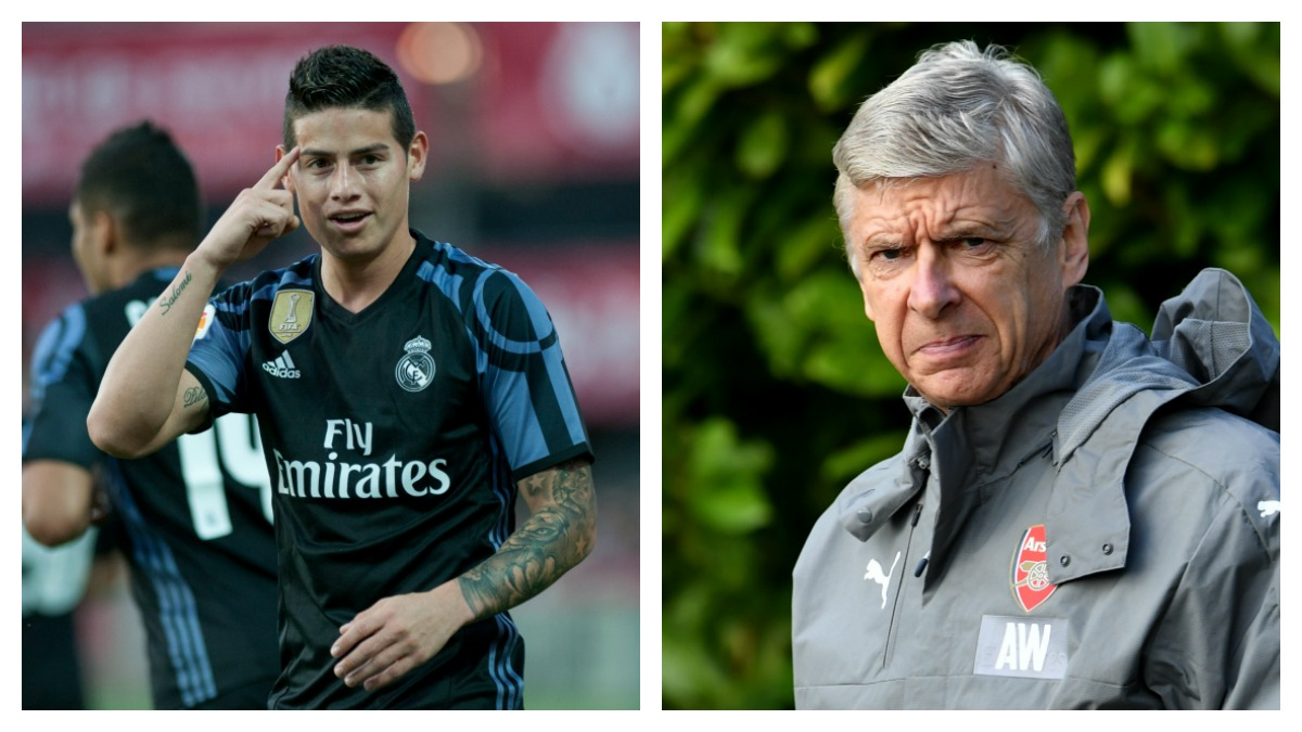 James y Wenger. (Fotos: AFP)