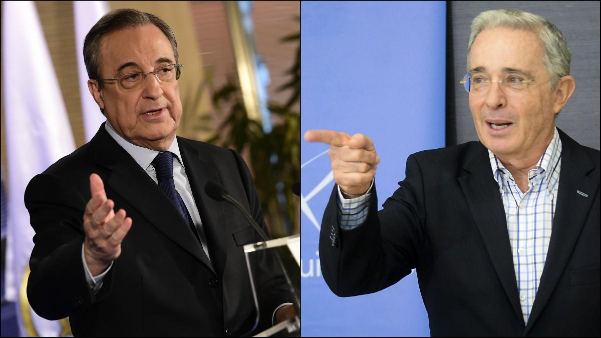 Florentino Pérez y Álvaro Uribe.