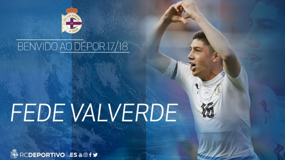Fede Valverde, nuevo jugador del Deportivo.
