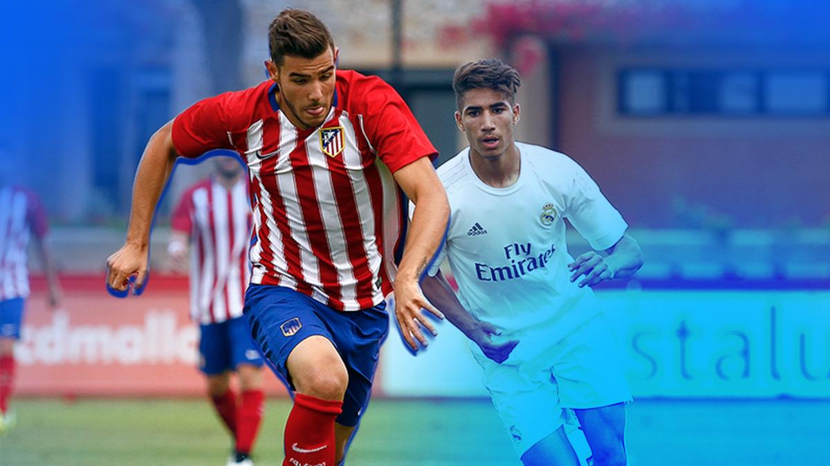 Theo Hernández pugna con Achraf por un balón durante la final de la Copa del Rey juvenil de la temporada pasada.