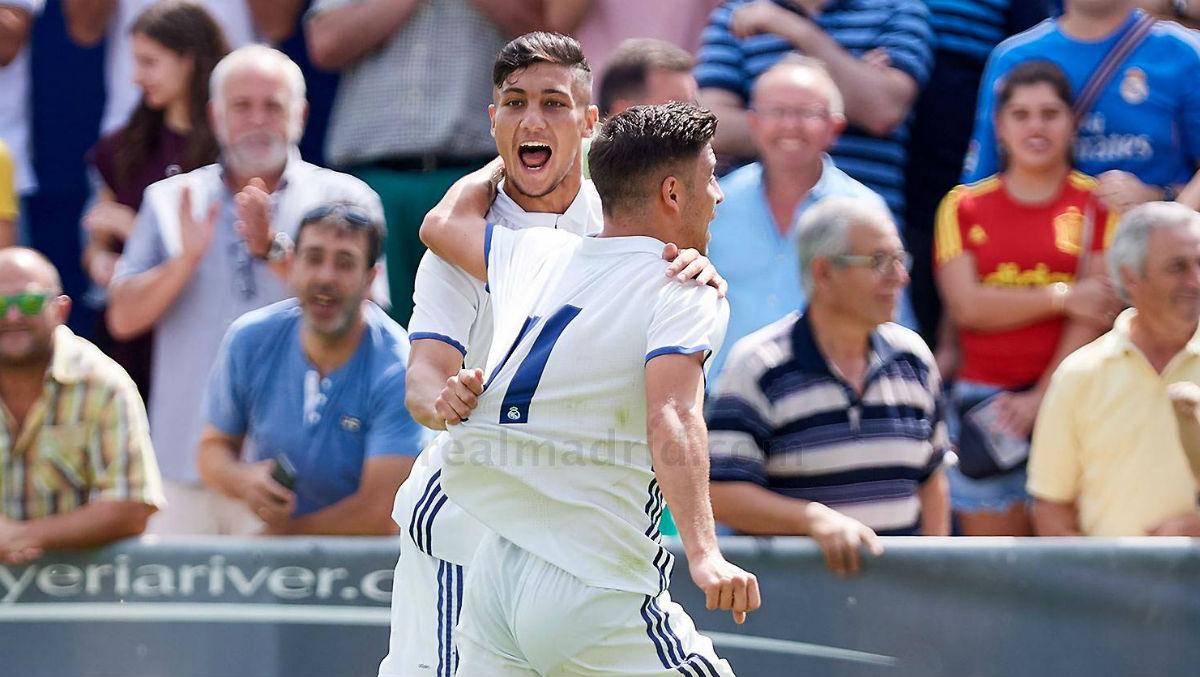 Óscar celebra el primer gol de la final. (realmadrid.com)