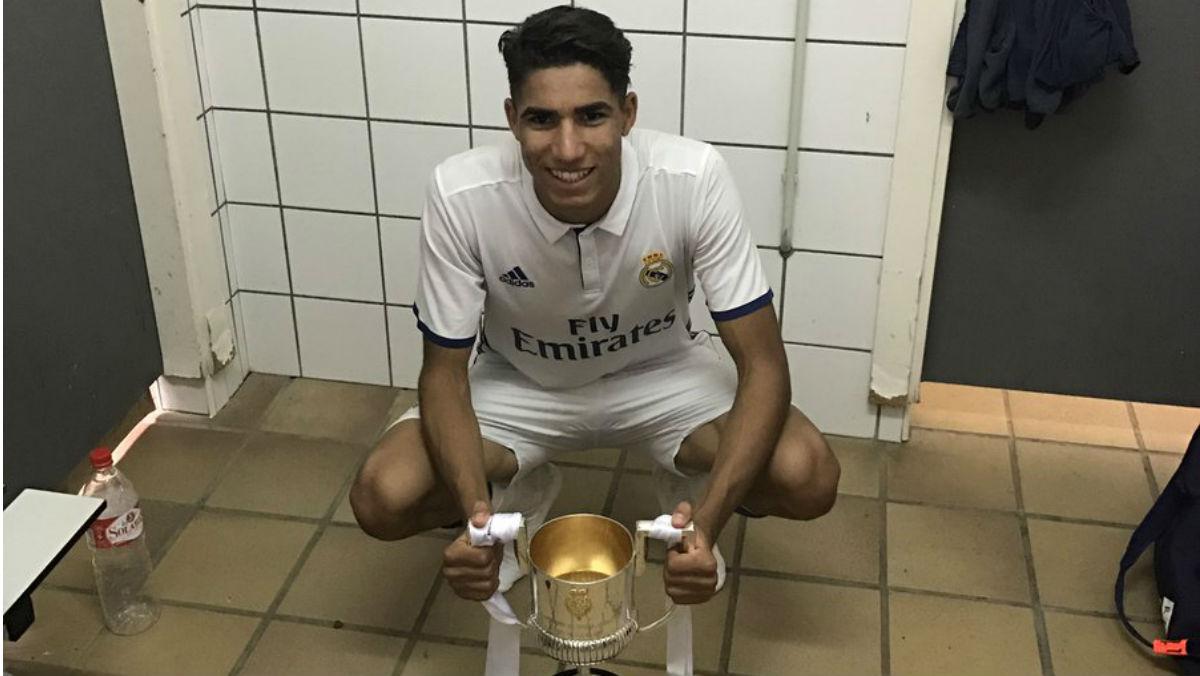 Acharaf jugó la final de la Copa del Rey juvenil haciendo el Ramadán. (Twitter)