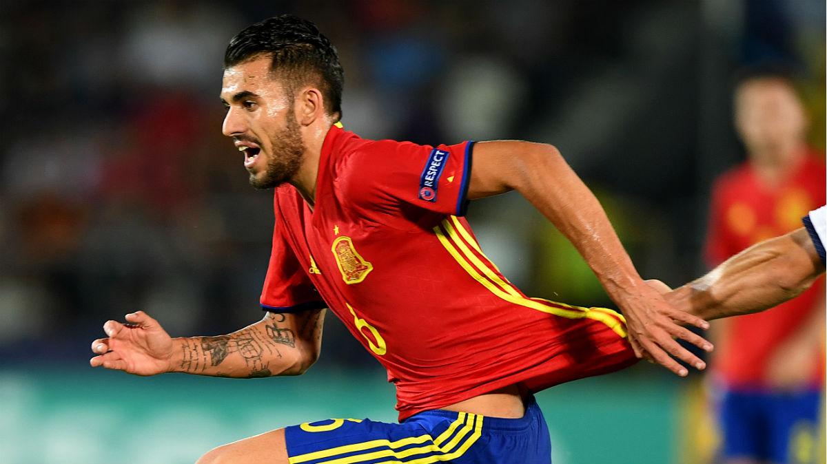 Dani Ceballos durante el España-Italia de semifinales del Europeo sub-21. (AFP)
