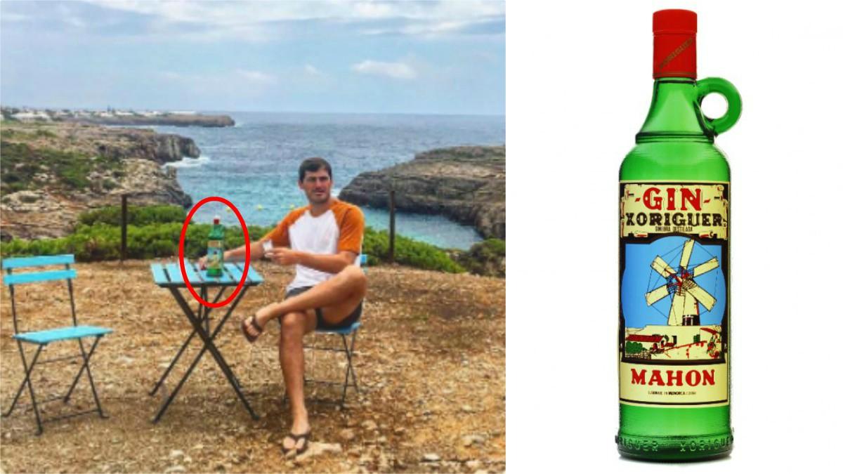 Casillas se toma un gin de Mahón en sus vacaciones menorquinas.