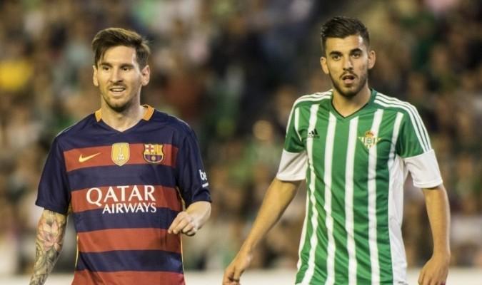 Ceballos y Messi, en un partido (EFE).