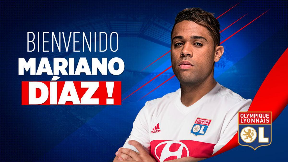 Mariano es nuevo jugador del Olympique de Lyon. (Olympique de Lyon)