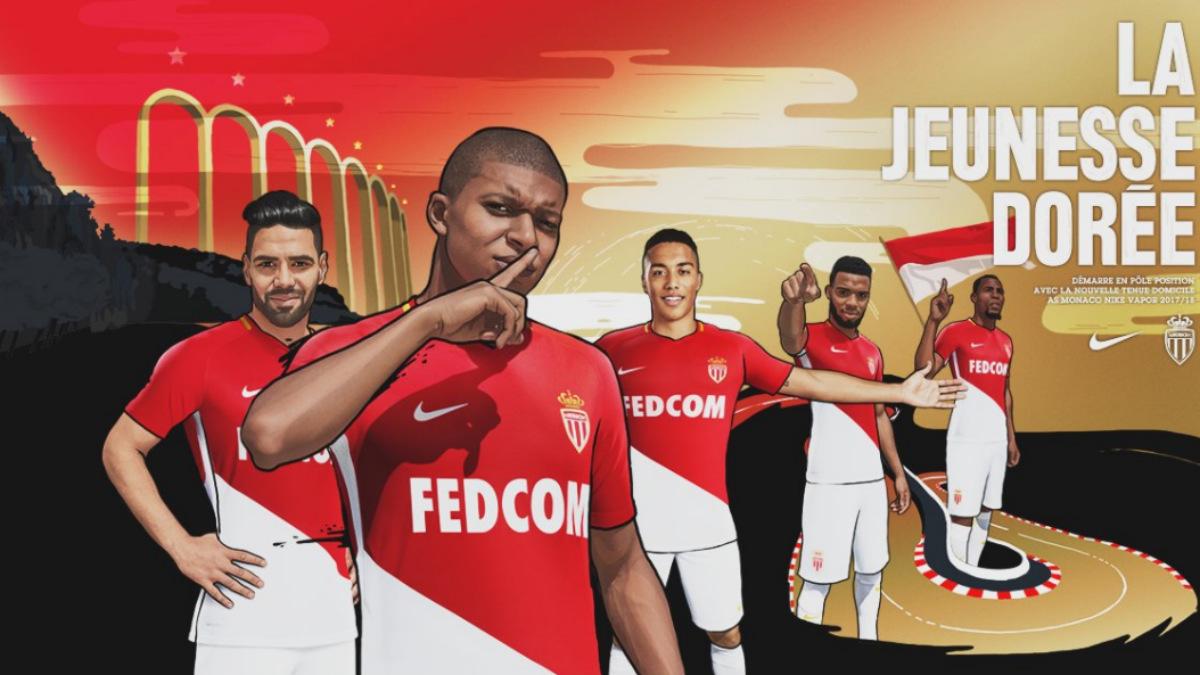 Mbappé, en primer plano de la campaña publicitaria del Mónaco.