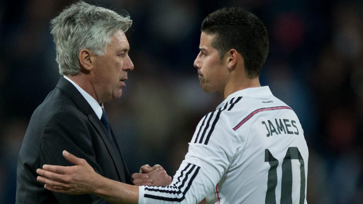 James Rodríguez mostró su mejor nivel a las órdenes de Ancelotti. (Getty)