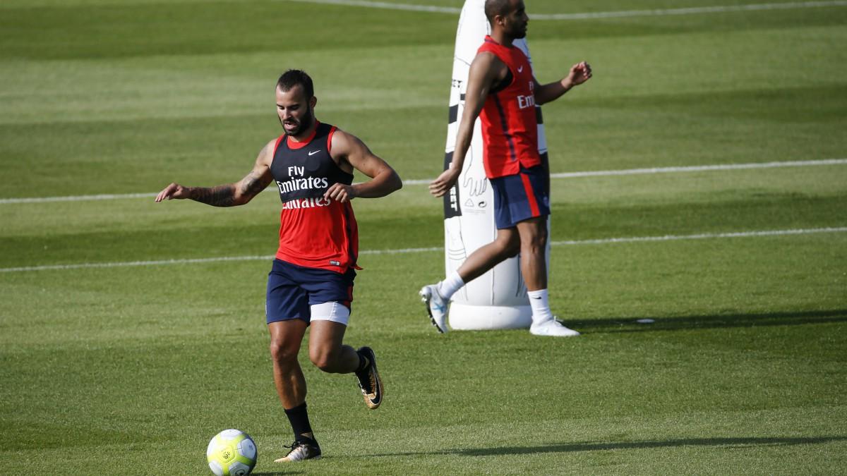 Jesé, en los entrenamientos del PSG. (AFP)
