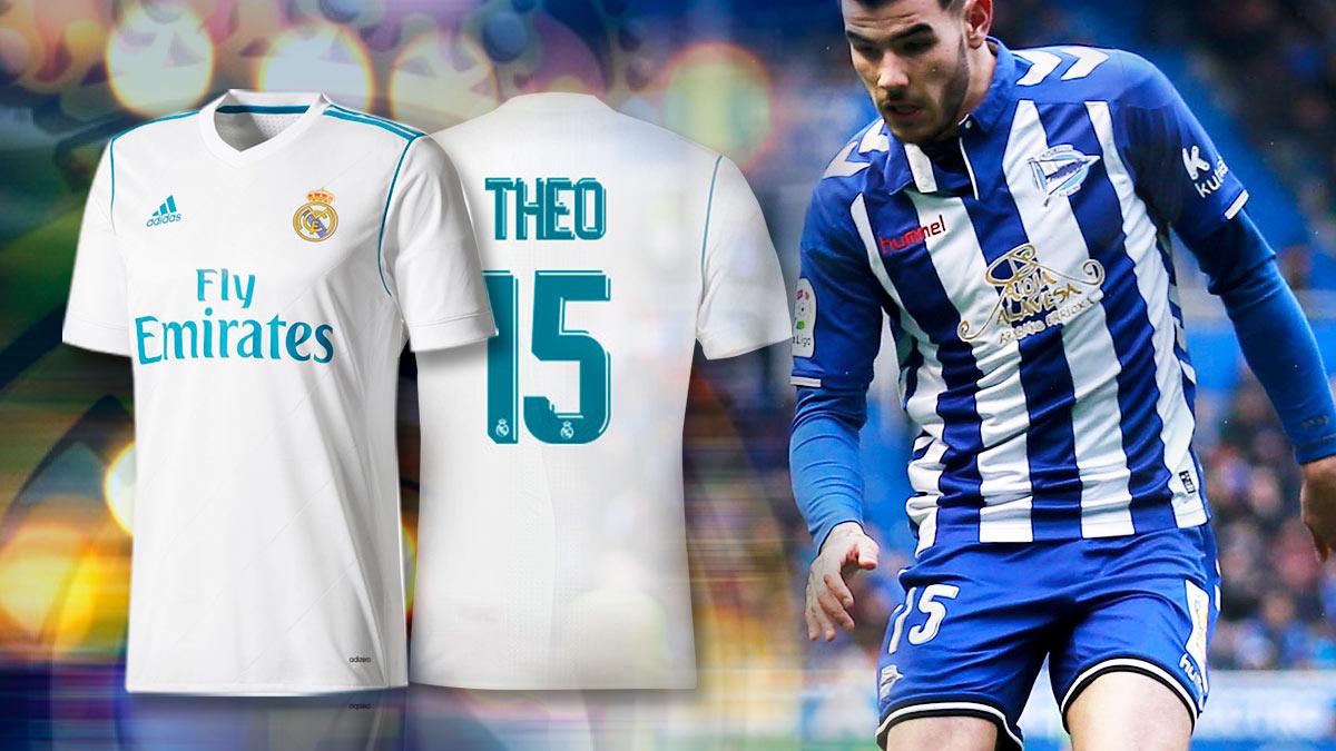Theo Hernández repetirá su dorsal en el Alavés en el Real Madrid.