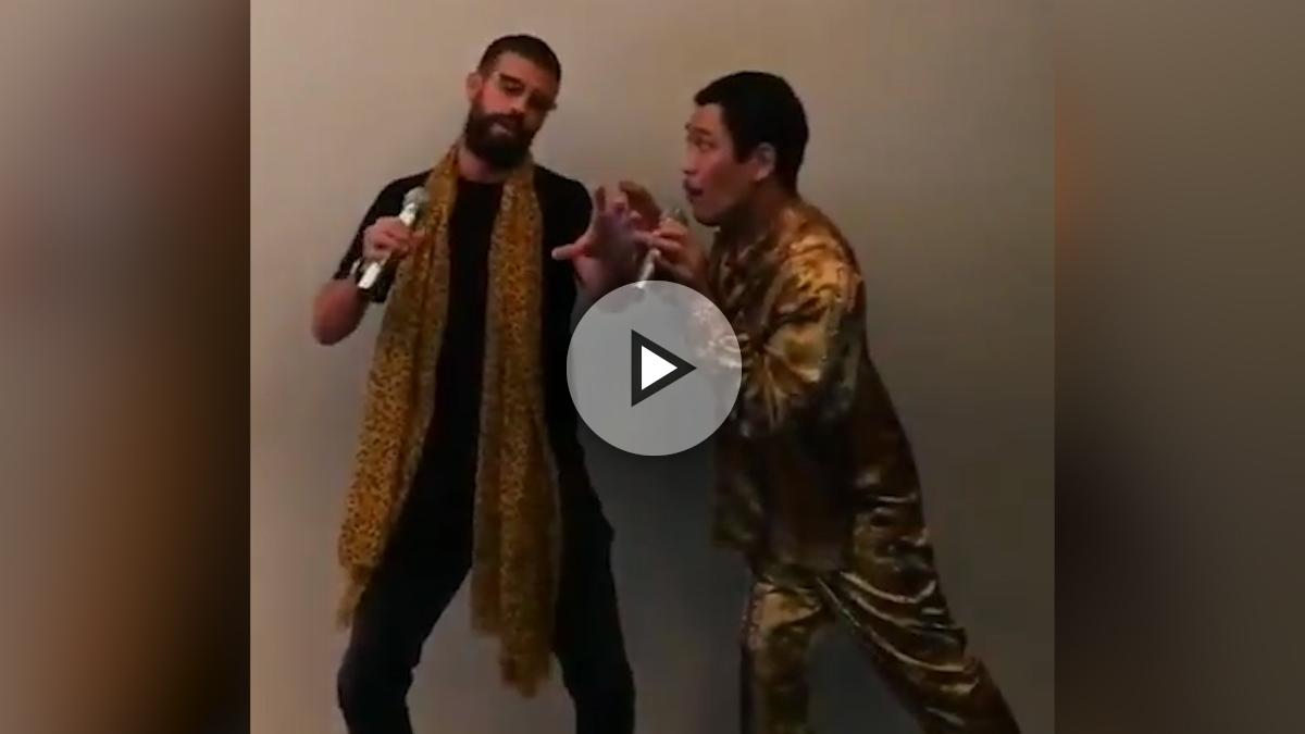 El último ridículo de Piqué: se anima a cantar el 'Pen Pineapple Apple Pen' con su creador