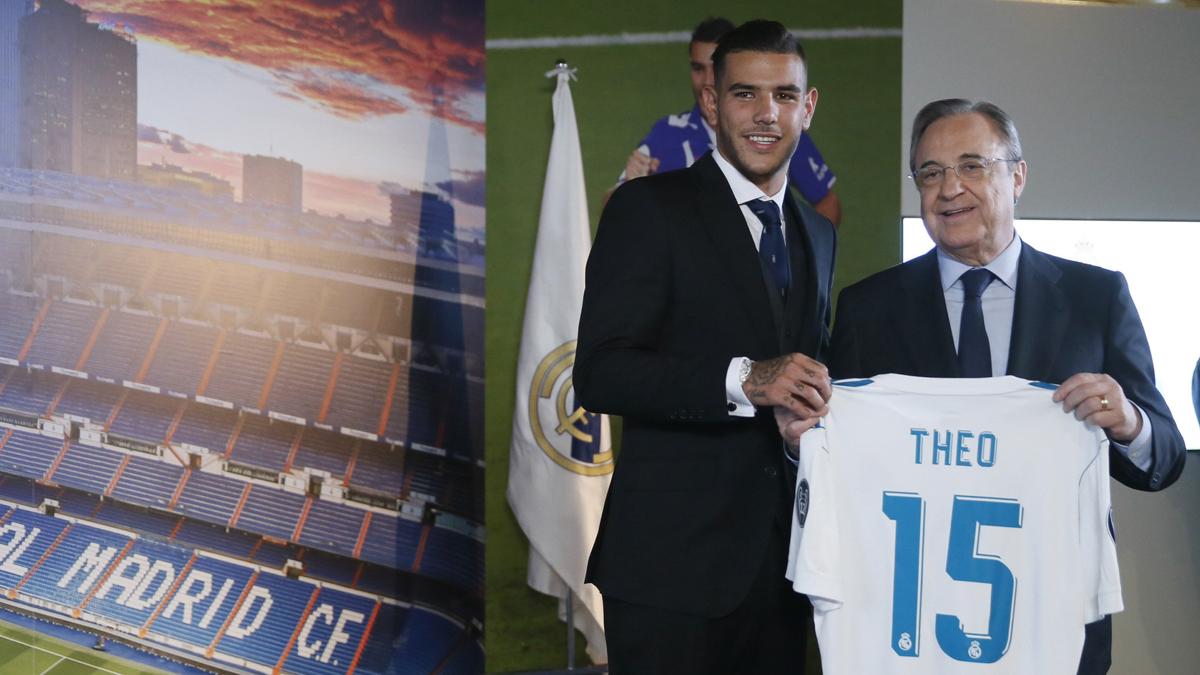 Theo y Florentino, en su presentación (EFE).