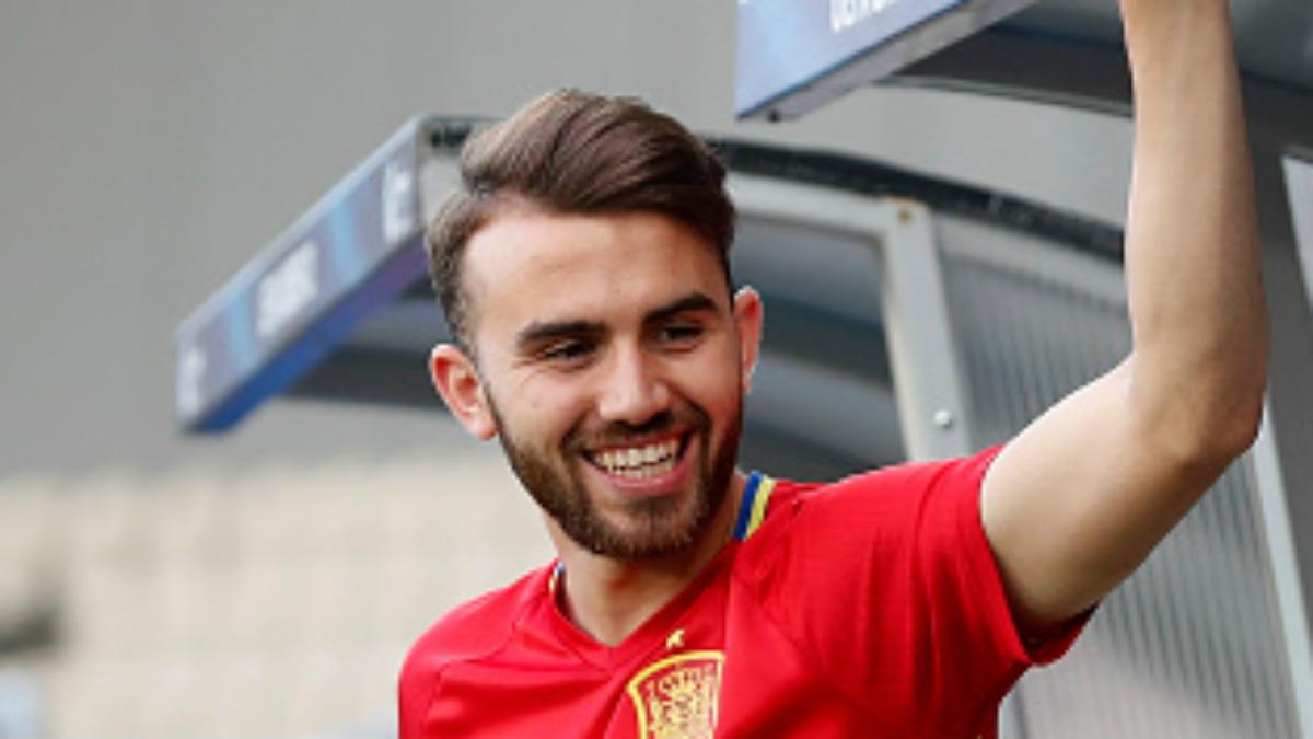 Borja Mayoral durante el Europeo sub-21 (Getty).