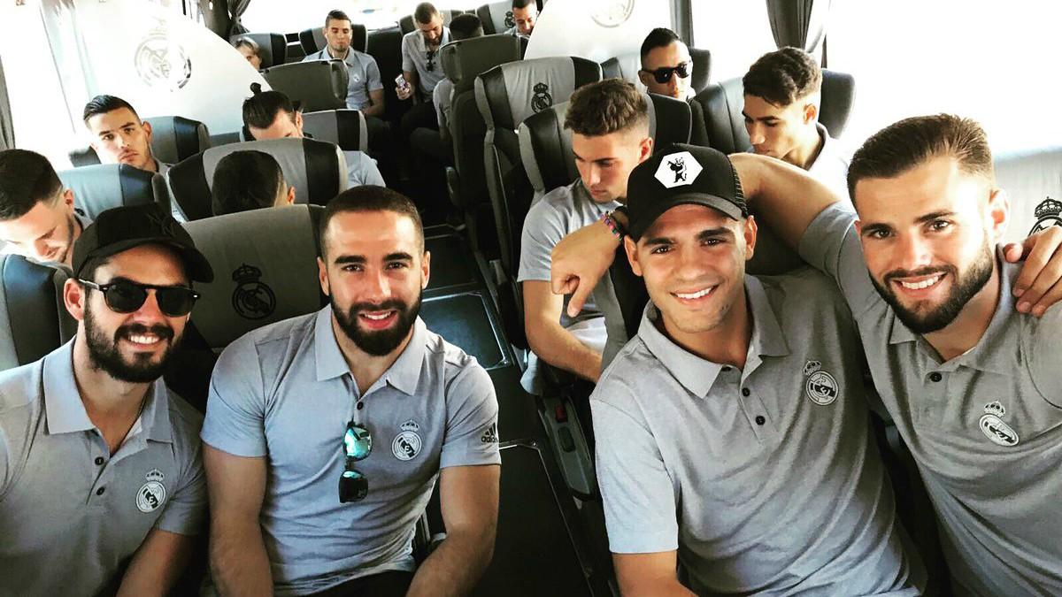 Los jugadores del Real Madrid, preparados para comenzar la pretemporada.