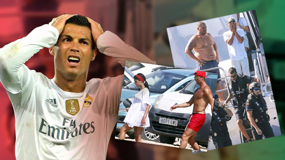 A Cristiano Ronaldo le dieron un susto en la embarcación que alquiló.