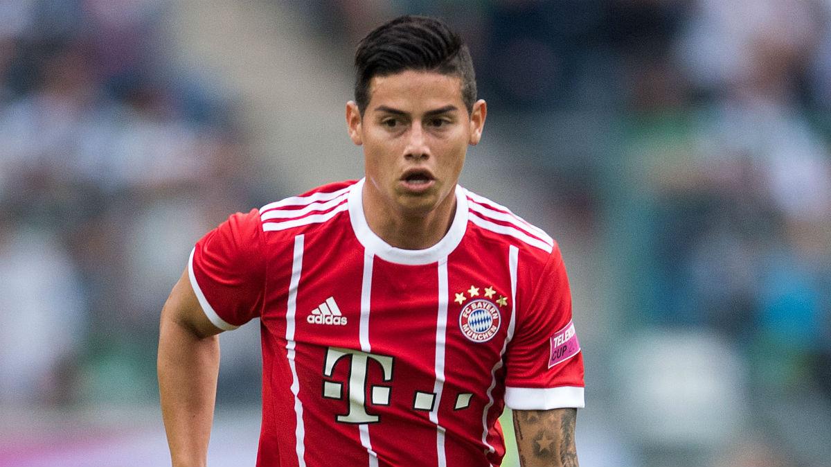 James Rodríguez debuta con el Bayern de Múnich. (AFP)